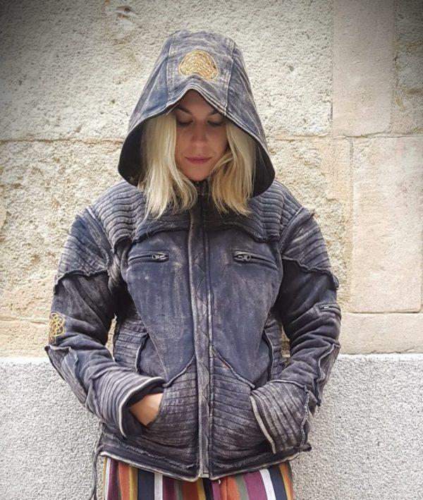 Cazadora Unisex con capucha, mangas desmontables y forro polar